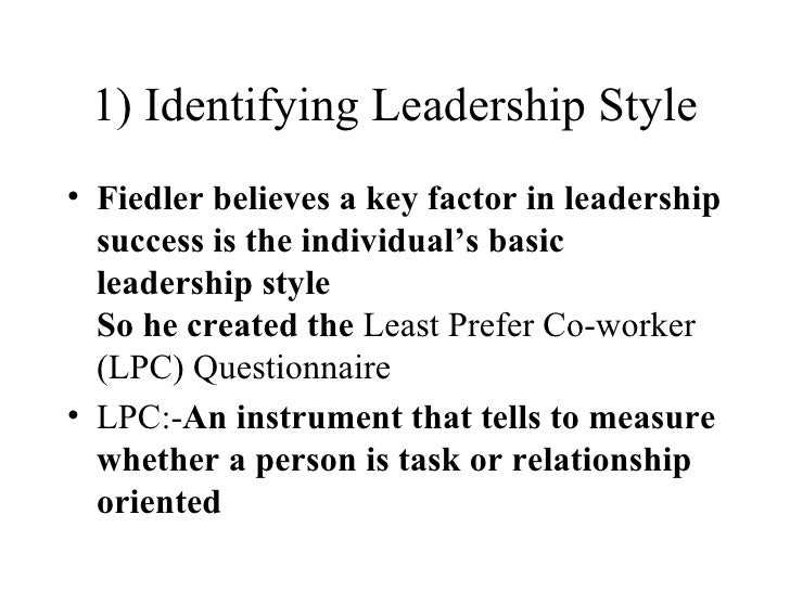 lpc theory of leadership definition