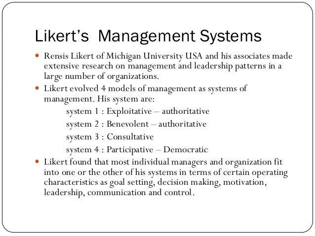 rensis likert leadership styles