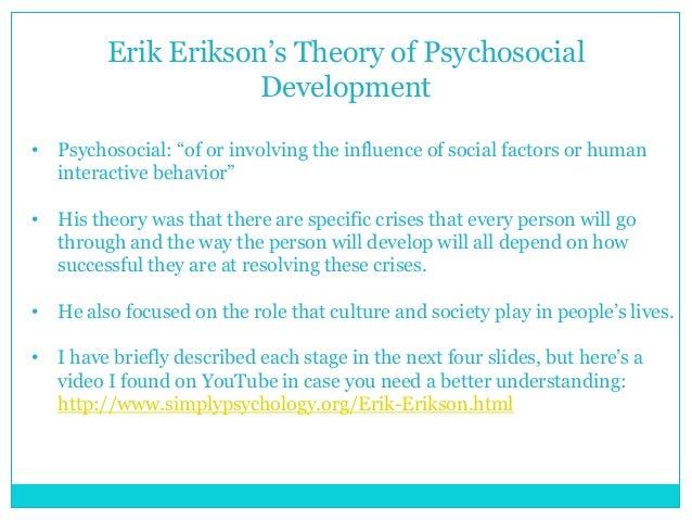 understanding erik eriksons theory about human development