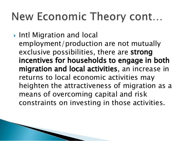 theories of migration 1 political science and comparative immigration politics gary p freeman university of texas at austin the most comprehensive reviews and critiques of theories of international migration.