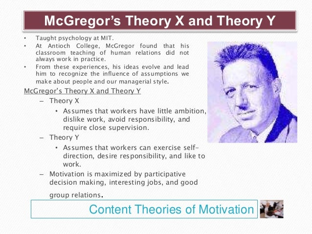 mcgregor theory x and theory y essay Theory x and theory y (douglas mcgregor) douglas mcgregor in his book, the human side of enterprise published in 1960 has examined theories on behavior.