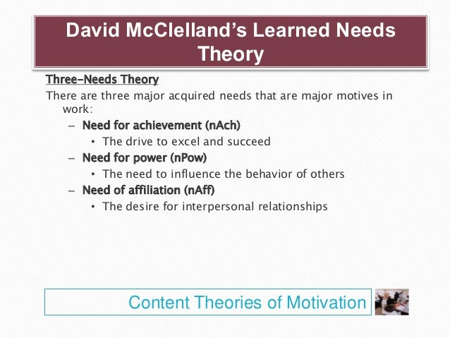 compare and contrast the three content motivation theories Motivation theory and practice: equity theory between worker motivation and each of these three in contrast, equity theory posits that.