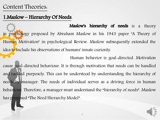 the importance of reinforcement theory and expectancy theory for understanding human behavior and mo Each of the major theoretical approaches in behavioral learning theory posits a   a second cognitive approach is expectancy theory (vroom, 1964) which   explanations) are reworked to more accurately reflect one's understanding of the  world  that achievement motivation is an important component of human  behavior.
