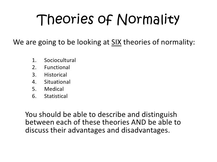 define normality in psychology