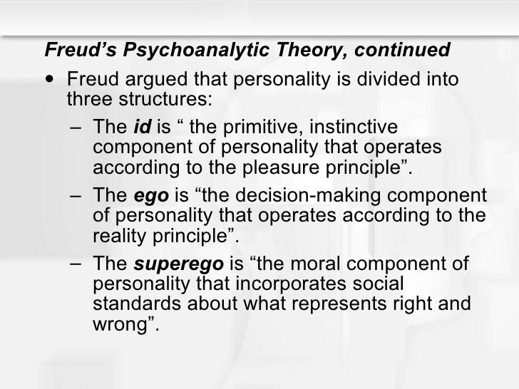 sigmund freud theory Welcome to our freud dream interpretation page in my view, regardless of the fact that modern day academics treat freud's theories with ridicule, the man was a genius.