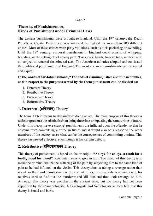 four theories of punishment