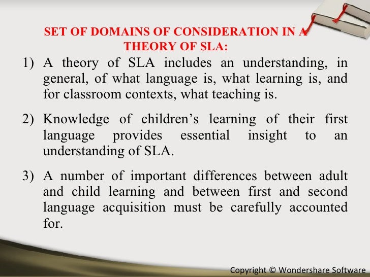 theories of first and second language Second language acquisition theories: developed along the lines of is a natural order of acquisition of second first language acquisition theories over.