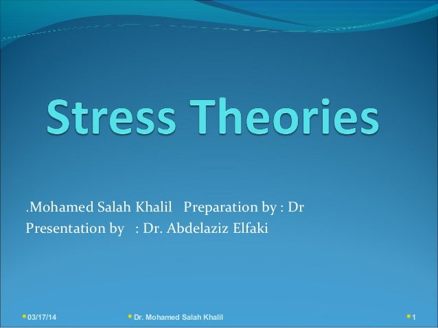 03/17/14 Dr. Mohamed Salah Khalil 1 Mohamed Salah Khalil Preparation by : Dr. Presentation by : Dr. Abdelaziz Elfaki