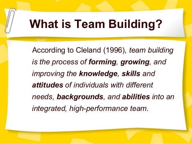 Theories of team building