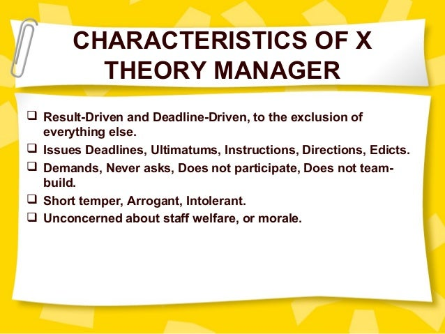 theory x and y examples
