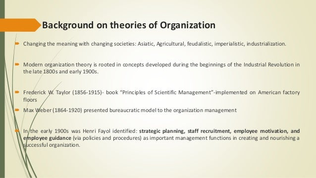 organizational theory and the heart of change essay Free essays on change of heart compared to organizational behavior and management a business model analysis for students 1 - 30.