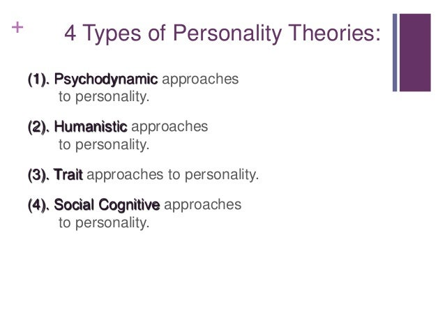 psychoanalytic and trait approaches personality assessment Free research that covers compare and contrast the psychoanalytic theories of freud psychoanalytic personality assessment psychoanalytic and trait approaches.