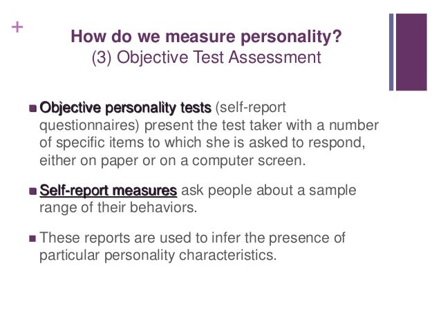 Theories personality & assessment