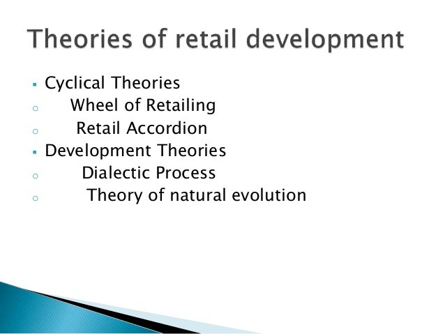 theories in retailing As biologists prepare to celebrate the 200th birthday of charles darwin next  month, doubters of his theories may want to head on down to their.