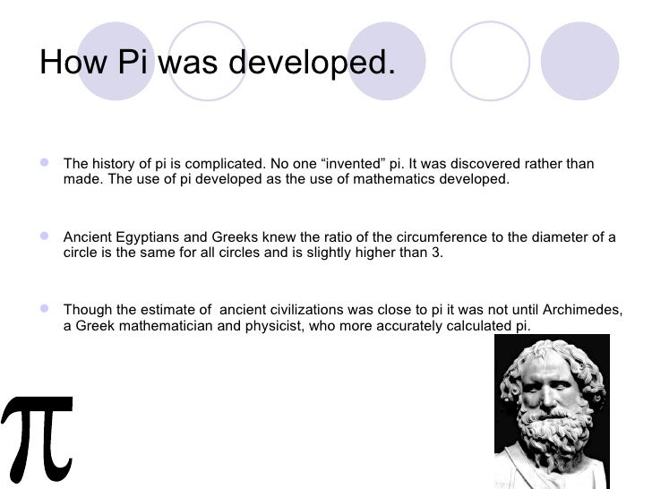 history of pi A history of pi a chronology of pi: history topics index version for printing a little known verse of the bible reads.