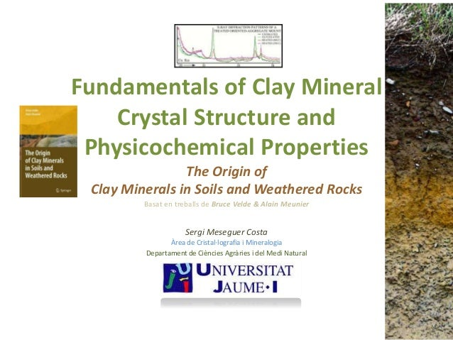 Fundamentals of Clay Mineral Crystal Structure and Physicochemical Properties The Origin of Clay Minerals in Soils and Wea...