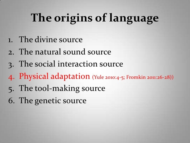 essay on the origin of language