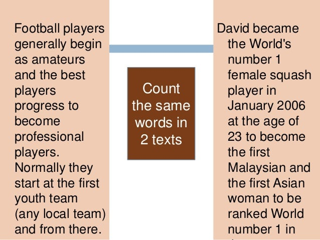  In a …… match, the player is ……… by the ……….. if his hand touches the ball in the ………. area . 17 words 80% 20%4 words  ...