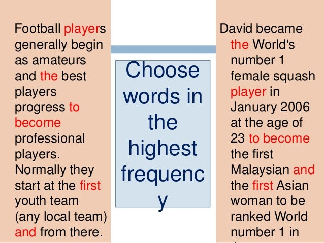 SPORTS SCIENCE MAGAZIN E POETRY AND SO ON…. WIDE RANGE OF DIFFERENT LANGUAGE SAMPLES FIND OUT COMMON VOCABULARY