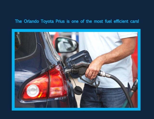 The Orlando Toyota Prius is one of the most fuel efficient cars!
