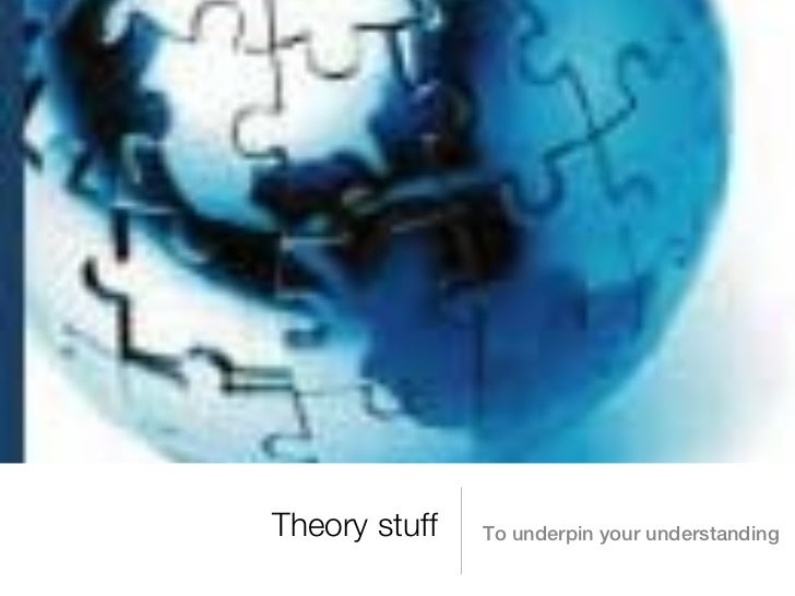 Theory stuff   To underpin your understanding