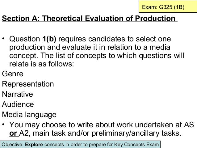 Exam: G325 (1B)Section A: Theoretical Evaluation of Production• Question 1(b) requires candidates to select one  productio...