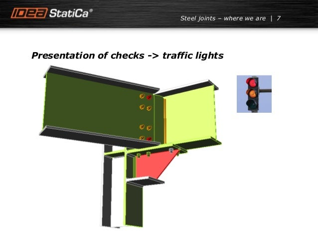 7Steel joints – where we are Presentation of checks -> traffic lights