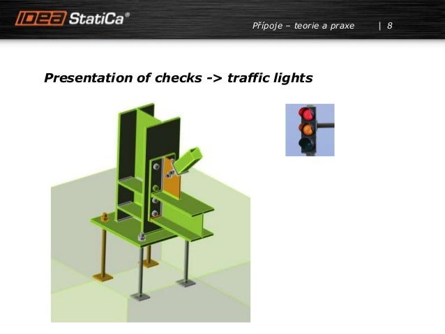 8Přípoje – teorie a praxe Presentation of checks -> traffic lights