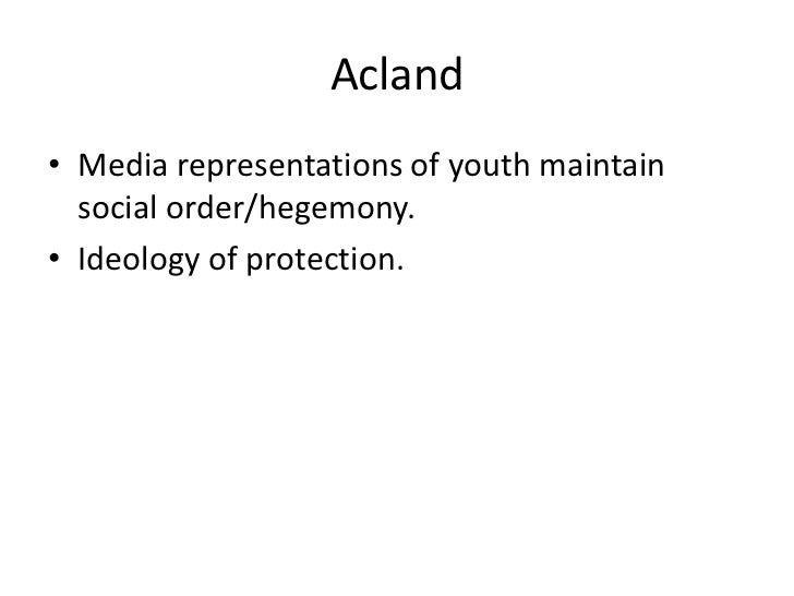Representations of youth in media discourses