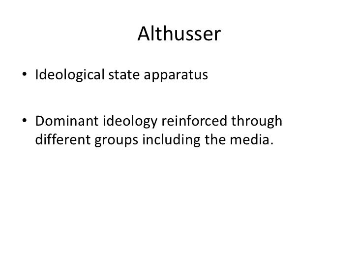 Ideology and ideological state apparatuses essay
