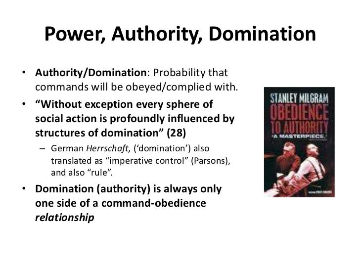 Weber and types of domination