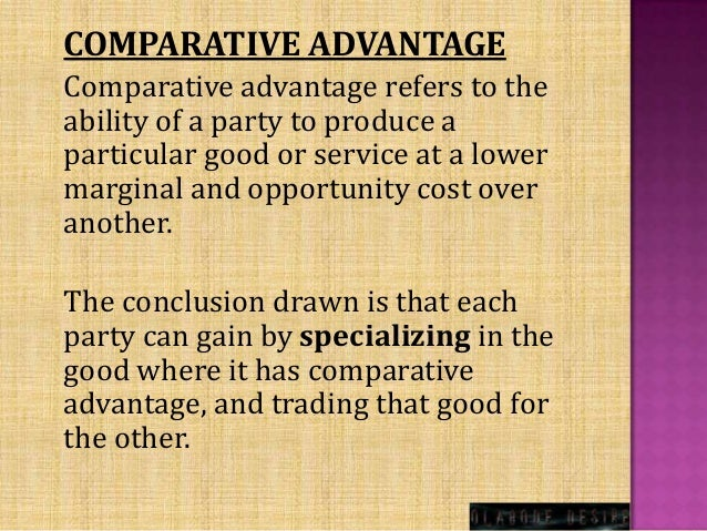 a paper on comparative advantage model Ricardian model assumptions the ricardian model production possibility frontier definitions: absolute and comparative advantage a ricardian numerical example relationship between prices and wages deriving the autarky terms of trade the motivation for international trade welfare effects of free trade.