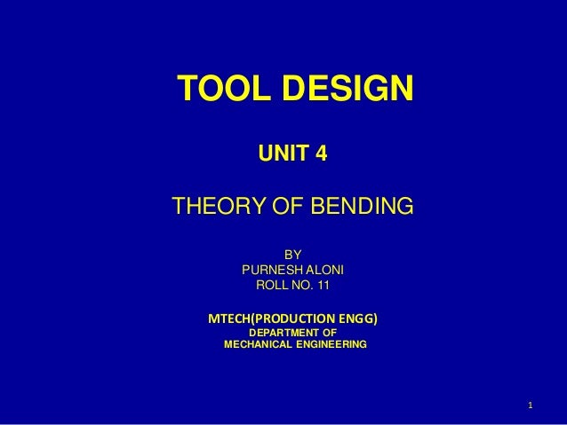 Theory Of Bending