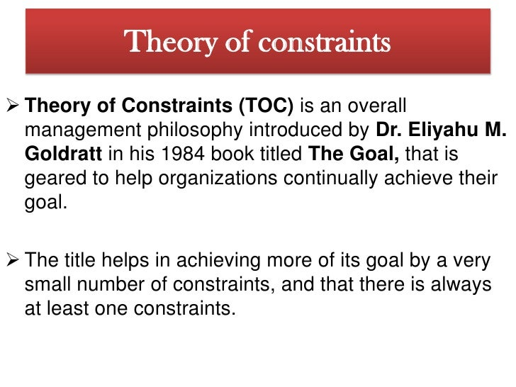 the goal book analysis