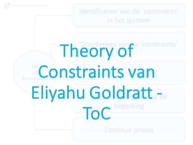 Theory of Constraints Goldratt