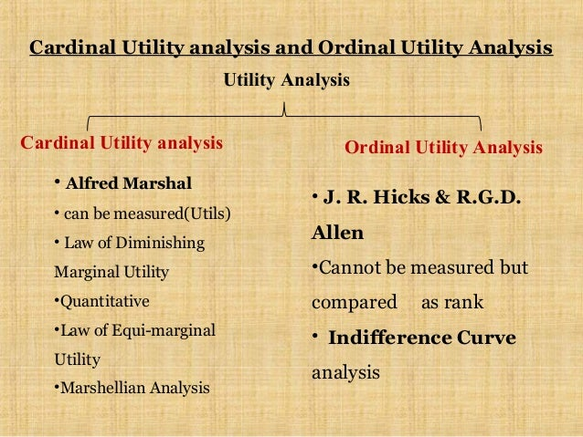 cardinal vrs ordinal approach of consumer behaviour Although utility cannot be measured but in cardinal approach of consumer behavior, the term which is used as a unit of utility is known as util and arithmetic numbers (1, 2, 3, ) are used for example x ate an apple and got 10 util of utility.