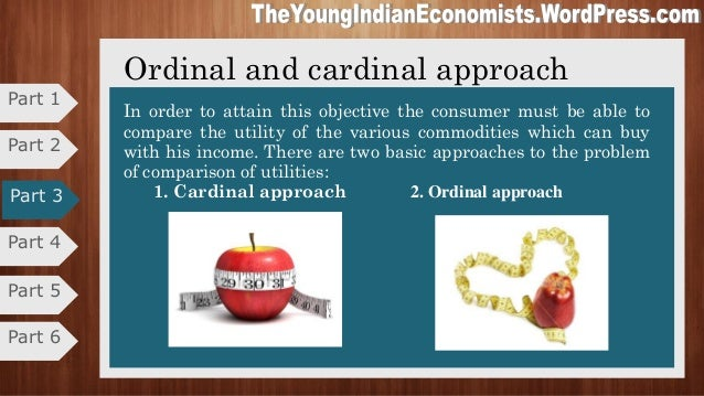 compare ordinal and cardinal utility It has been asserted that whereas marshallian cardinal utility ordinal vs cardinal measurability of utility: while it may be perfectly sensible to compare.