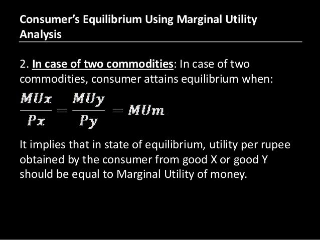 What is the Law of Equi Marginal Utility? (Consumer Equilibrium)
