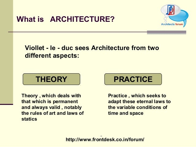 Architecture Design Theory