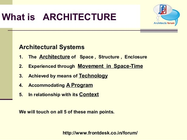 Theory of design for What is architectural style