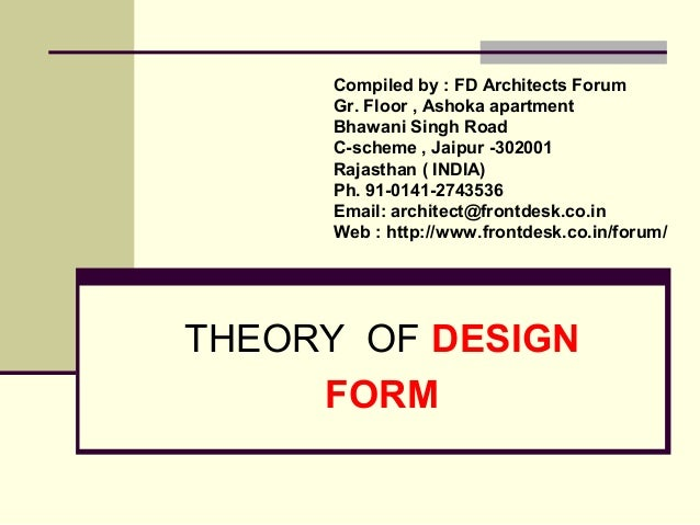 Compiled by : FD Architects Forum  Gr. Floor , Ashoka apartment  Bhawani Singh Road  C-scheme , Jaipur -302001  Rajasthan ...