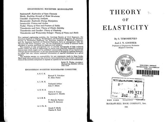 theory of elasticity timoshenko rh slideshare net Theory of Elasticity Lecture Notes Theory of Elasticity Formula
