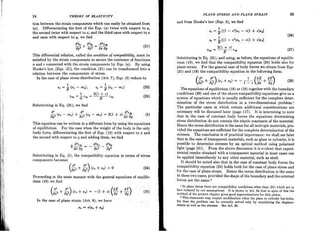 theory of elasticity timoshenko rh slideshare net Theory of Elasticity Lecture Notes Elasticity Physics