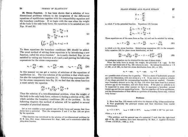 theory of elasticity timoshenko rh slideshare net Theory of Elasticity Tapered Bar Rubber Elasticity Theory
