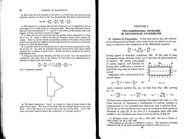 theory of elasticity timoshenko rh slideshare net Of Theory Elasticity Mathematical Sokolnikoff Elasticity Physics