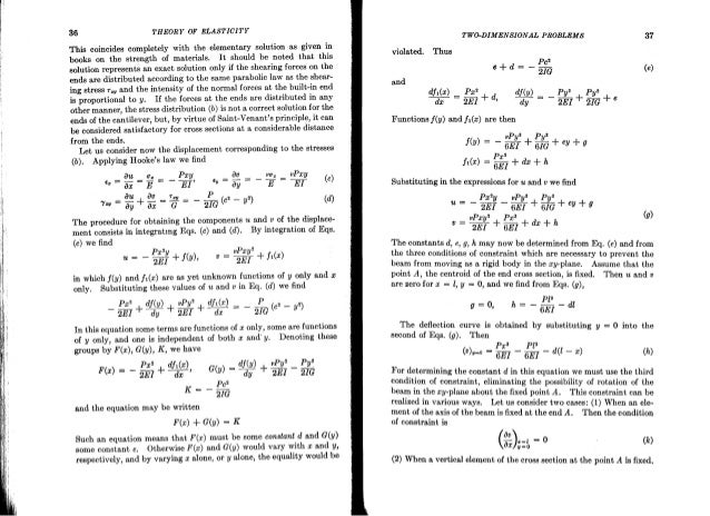 theory of elasticity timoshenko rh slideshare net Timoshenko Theory of Elasticity Rubber Elasticity Theory