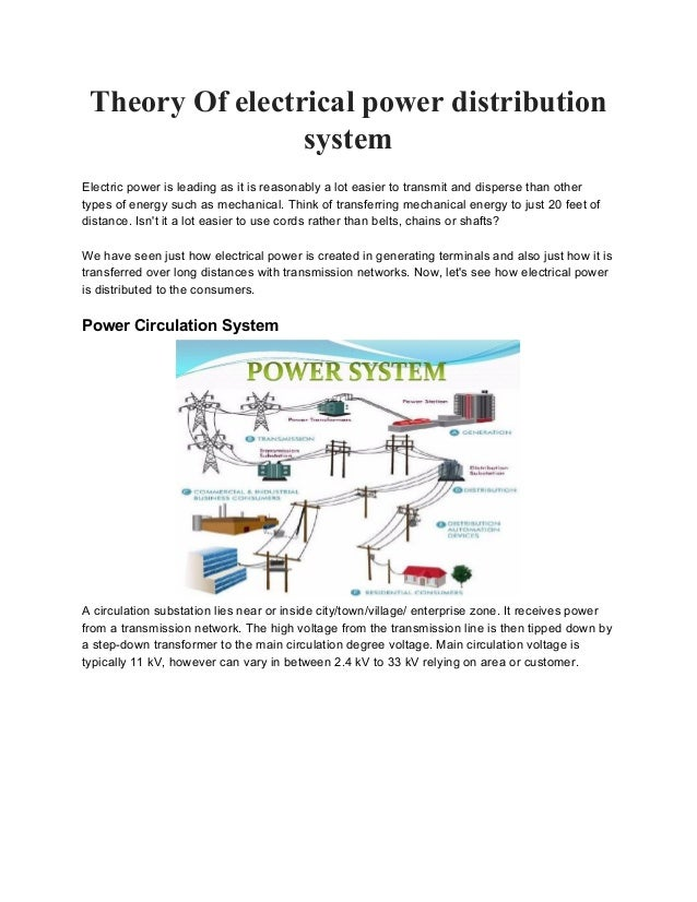Theory Of Electrical Power Distribution System