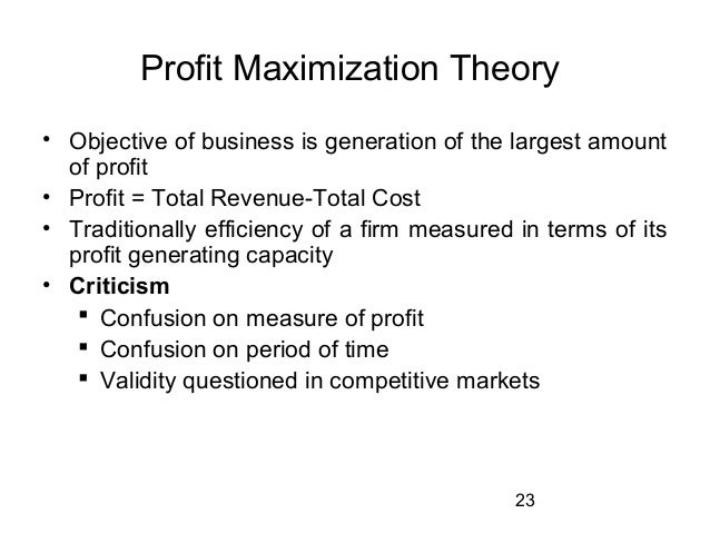 Theories of Profit in Economics