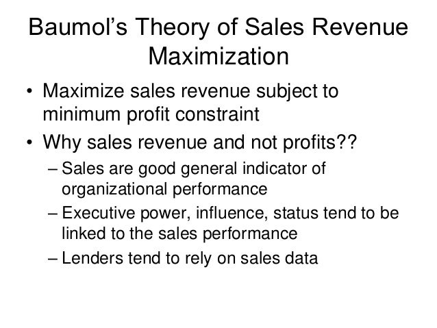 alternative theories to profit maximization essay - alternative theories to profit maximization ranging from perfect competition to strict monopolies companies and the market most companies are profit oriented companies survive and live on profit.