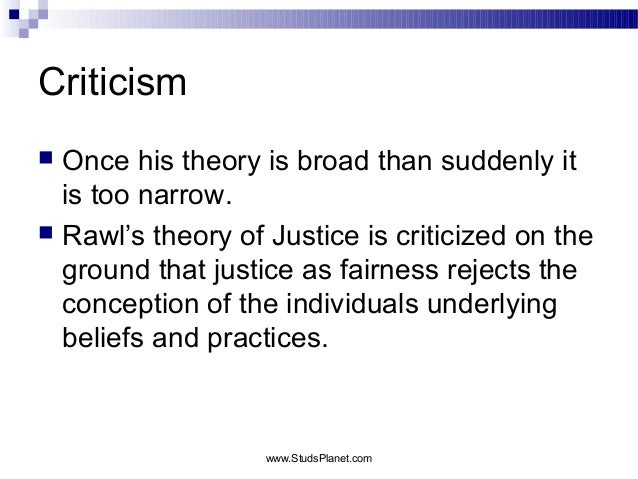 Theory on justice